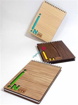 دفترچه خبرنگاری چوبی کوچک اوجا